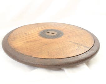 Vintage wooden discus