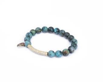 Turquoise - Gemma Collection - Semi precious stone jewelry, gemstones, boho jewellery, african turquoise, precious stones, Christmas Gifts