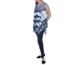 Black & White Butterfly Tunic