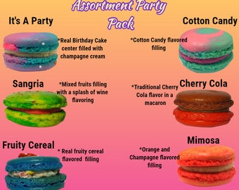 Macarons Assortment 12pc Party Theme