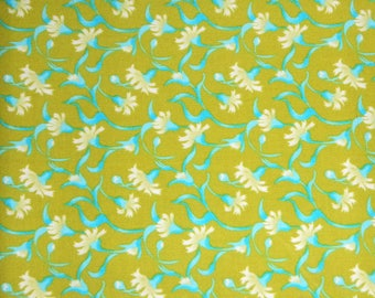 Olive green and turqoise floral design by Blank Quilting #5717.