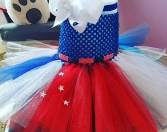 babys and girls 4th of July Party Dress tutu dress , summer party dress