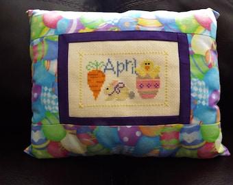 April Easter Egg Pillow