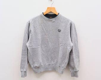 Vintage MCM Legere Michael Cromer München Small Logo Gray Pullover Sweater Sweatshirts Size M