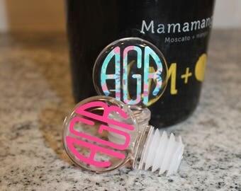 Personalized Acrylic Wine Stopper, Monogrammed Wine Stopper, Wine Cork, Wine Stop