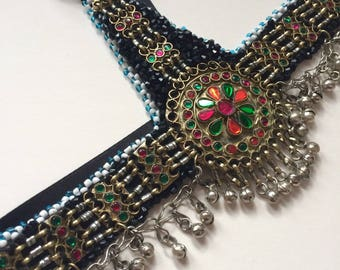 Hand beaded Indian Style Persian Festival Headpiece