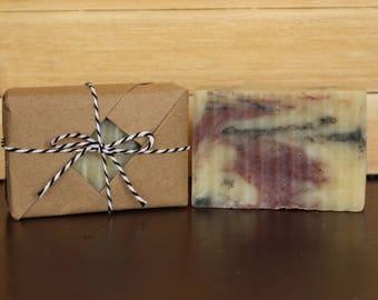 Gift Wrapped Soap/Black Raspberry Vanilla Soap/Handmade Shea Butter Soap