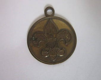 Antique Boy Scouts of America Scout Oath Pendant or Charm