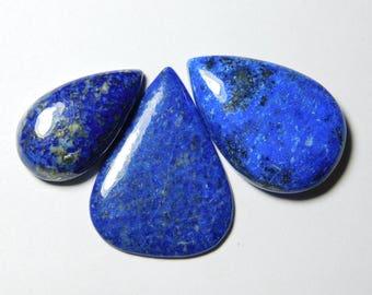 3 pce Lot Natural Lapis Lazuli Gemstone Lapis Lazuli Loose stone Blue lapis lazuli cabochon Amazing Qualiyt Gemstone 103  cts
