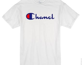 Champion X Chanel T shirt All sizes available
