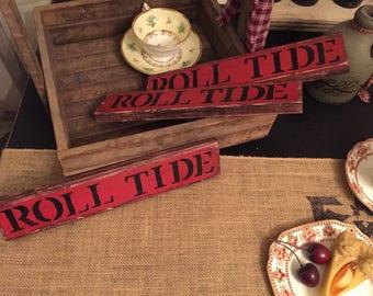 Alabama Crimson Tide Roll Tide Rustic Sign College Football Home Decor