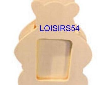 Picture frame wood bear 136 mm