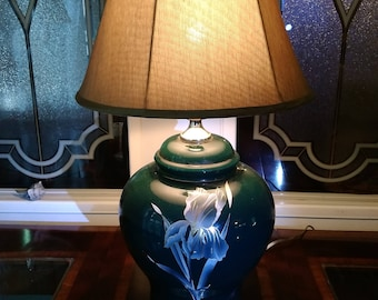 Bigger base lamp . Green brings out the gold accents .