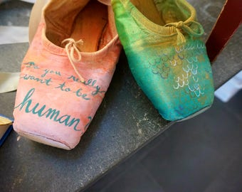 "Pointe Shoes ""Mermaid"""