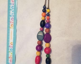 Wooden and Plastic beaded Necklace