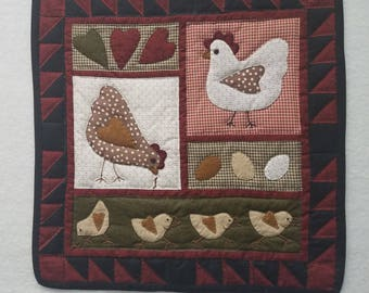 Chickens! wall hanging
