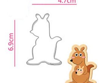 Kangaroo Cookie Cutter - Animal Fondant Biscuit Mold - Pastry Baking Tool Set