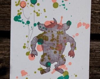 Monsters Love Balloons 2 Illustration