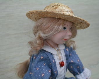 "Artist doll ""The girl in blue dress"""