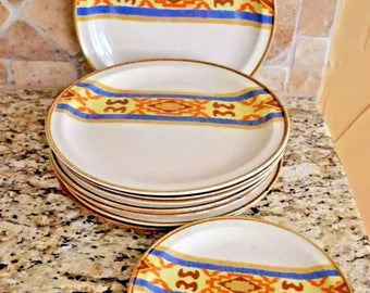 Vintage Sunmarc Insight Cherokee Dinner Salad Dessert Plates Native New 11 Piece
