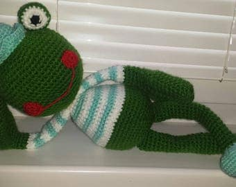 Frog toy made by hand