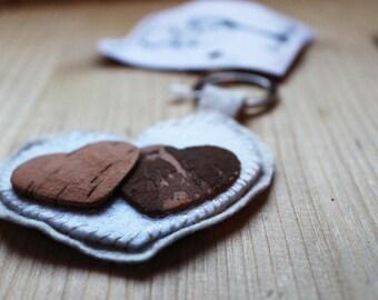 Key Chain Handmade hearts