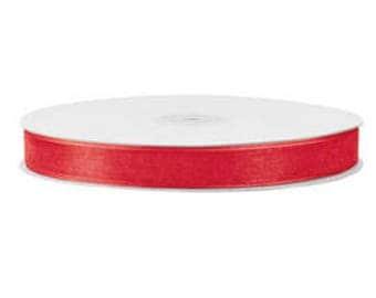 600 Yards Red Organza 5/8 Inch Sheer Ribbon