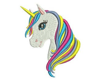 Unicorn Head Design Embroidery Design Fill Design Machine Embroidery Instant Download Digital File EN2019_H