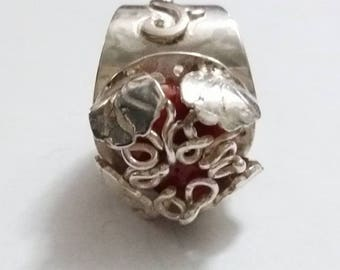 Shell ring on coral