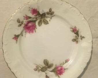 Royal Rose Fine China saucers, set of 4