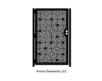 Decorative Steel Gate - Steel Panel Art - Concentric - Ornate Driveway Gate - Artistic Wall Panel - Geometric Steel Art - Patterned Art Gate