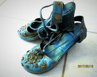 Aqua-Blue Shoes, Stylish and Comfortable