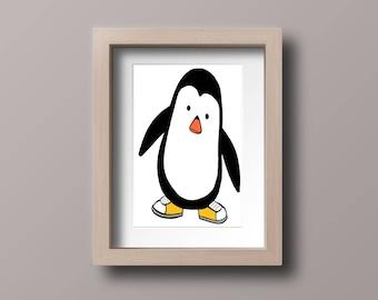Kids' Penguin Print A4
