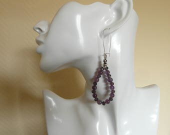 Elegant earring with amethyst and faceted beads!