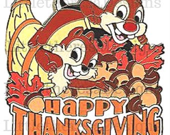Chip N Dale Happy Thanksgiving Transfer