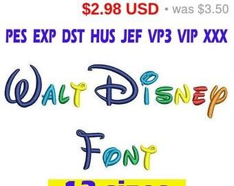 Sale 15% Walt Disney font Embroidery/ Walt Disney Font embroidery design/ INSTANT download