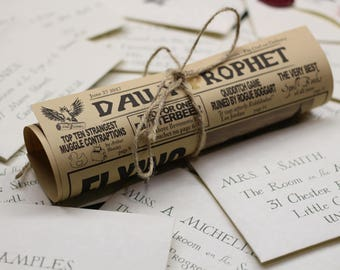 Daily Prophet Personalised Wizarding Newspaper, Hogwarts Lost Letter Story