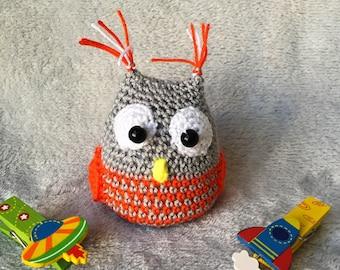 Little amigurumi owl, crochet owl, baby owl