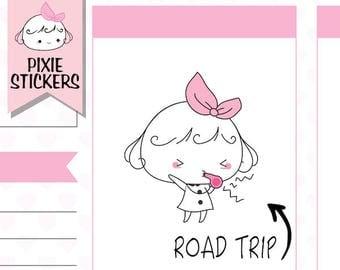 P155 | road trip planner stickers,road trip stickers,car stickers,,driving stickers,travel stickers,adventure stickers,roadtrip stickers
