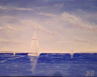 Yachts at Sea in Summer