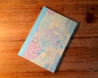 Geometric Flowers Fabric Covered Journal