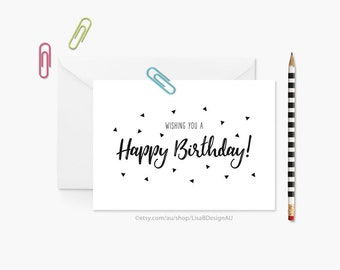Brush Lettering Birthday Card | Card for Her | Card for Him | Card for Friend | Card for Anyone | Card for Sister | Card for Dad | GCBCA601