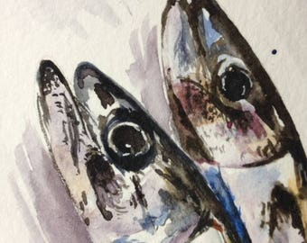 The Mackerel - Watercolour