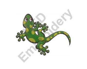 Gecko - Machine Embroidery Design, Green Gecko