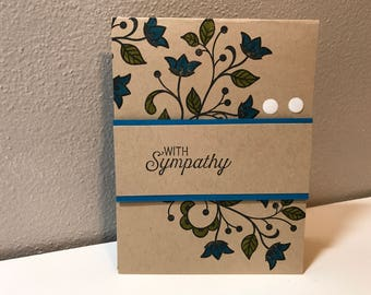 Sympathy, Thinking of You Handmade Stampin' Up! Card
