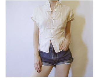 80s Japanese Style Blouse S