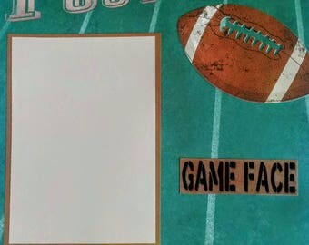 Football Scrapbook, Football Layout, Football Page, Sport Layout, Premade Football Layout, Game Time Layout, 12x12 Premade Layout, Football