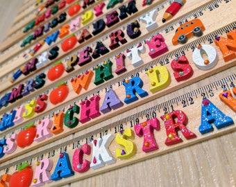 Personalised Wooden Ruler - Teacher Gift/Child Birthday Gift/Starting School