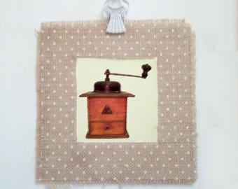 Coffee grinder - Shabby chic wall decor, shabby prints, wall art, wall prints, vintage prints, vintage decor | Tropparoba 100% made in Italy