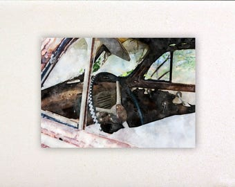 Vintage car - Watercolor prints, watercolor posters, nursery decor, nursery wall art, wall decor wall prints | Tropparoba 100% made in Italy